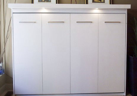 Urban Cabinetry Contour White Wall Bed